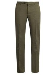 Editions M.R Slim Leg Cotton Chino Trousers Khaki