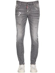 Dsquared 16Cm Skater Graphite Cotton Denim Jeans Grey