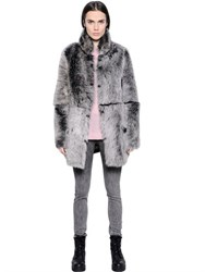 Blk Dnm Coat 18 In Reversible Shearling