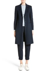 Armani Collezioni Women's Double Face Cashmere Coat Navy