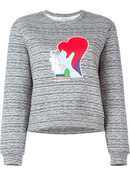 Carven Embroidered Patch Sweatshirt Grey