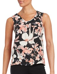 Nipon Boutique Floral Sleeveless Blouse Blush