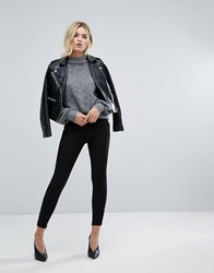 Selected Crop Trousers With Ankle Zip Black