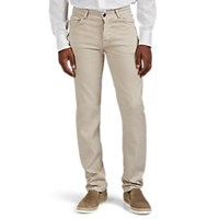 Marco Pescarolo Denim Effect Linen Cotton Five Pocket Trousers Beige Tan