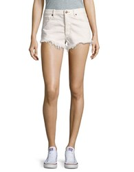 Free People Cut Off Denim Shorts White