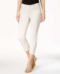 Charter Club Petite Bristol Capri Jeans Only At Macy's Creme Stone