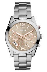 Fossil Women's 'Perfect Boyfriend' Multifunction Bracelet Watch 39Mm Silver Taupe
