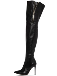 Gianvito Rossi 105Mm Over The Knee Leather Boots Black