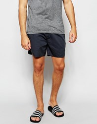 Asos Chino Shorts With Elasticated Waist In Petrol Petrol Blue