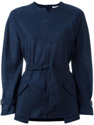 Cacharel Belted Blouse Blue