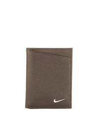 Nike Pebbled Leather Trifold Wallet Brown
