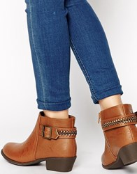 New Look Dusty Tan Ankle Strap Flat Boots