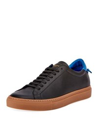 Givenchy Men's Urban Knot Leather Low Top Sneaker Black Blue