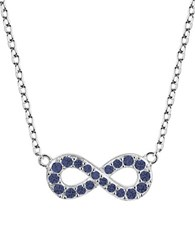 Lord And Taylor Sterling Silver Infinity Pendant Necklace Blue Silver