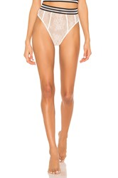 For Love And Lemons Julienne Lace Hi Waist Panty White