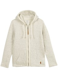 Fat Face Yarmouth Textured Zip Through Knit Ivory