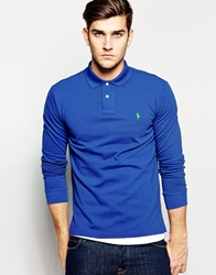 Polo Ralph Lauren Polo Shirt In Slim Fit Long Sleeve Royal