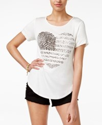 American Rag Heart Graphic T Shirt Only At Macy's White Black