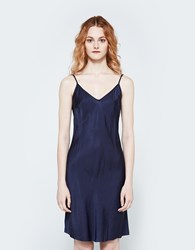 Organic By John Patrick Short Bias Slip In Navy