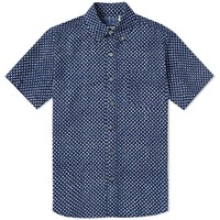 Blue Blue Japan Short Sleeve Gauze Overlap Dot Shirt Blue
