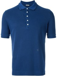 Massimo Alba Pique Polo Shirt Blue