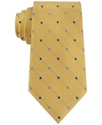 Nautica Deckhand Dotted Grid Tie Yellow