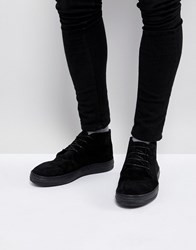 Asos Lace Up Boots In Black Suede Black Tan