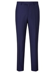 Chester Barrie By Hopsack Wool Tailored Suit Trousers Navy
