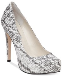 Bcbgeneration Parade Platform Pumps Women's Shoes Black White Snake