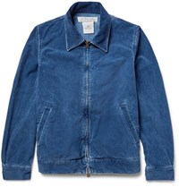 Remi Relief Cotton Blend Corduroy Jacket Blue
