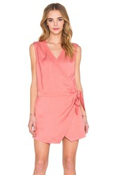 State Of Being Folded Lapel Dress Blush