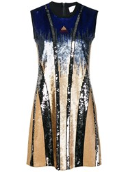 Sportmax Sequin Mini Dress Blue
