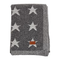 Gant Melange Stars Knit Throw Anthracite