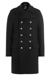 Dolce And Gabbana Wool Coat Black