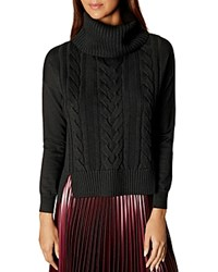 Karen Millen Cable Knit Sweater Black