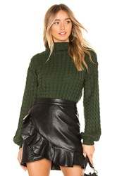 Line And Dot Juniper Cable Knit Sweater Dark Green
