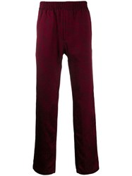 Paura Patterned Track Trousers Red