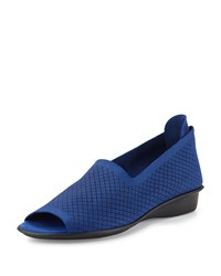 Sesto Meucci Eadan Open Toe Demi Wedge Sandal Bluette