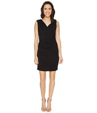 Heather Wrap Front And Back Dress Black Women's Dress