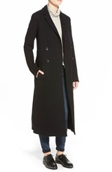 James Perse Fleece Overcoat Black