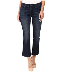Kut From The Kloth Reese Crop Flare Jeans In Security W Euro Base Wash Security Euro Base Wash Women's Jeans Black