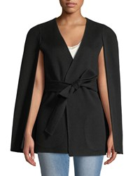 Kobi Halperin Maria Wool Blend Cape Sleeve Coat Black