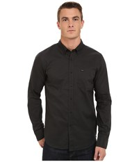 Rvca That'll Do Oxford Long Sleeve Pirate Black Men's Long Sleeve Button Up