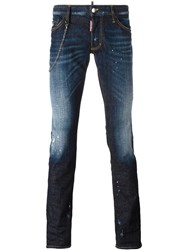 Dsquared2 Sexy Boot Bleached Accent Jeans Blue