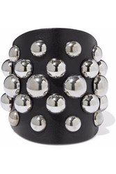 Red Valentino Studded Leather Cuff Black