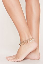 Forever 21 Coin Charm Anklet Antique Gold