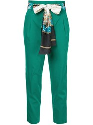 Guild Prime Print Belted Cropped Trousers Green