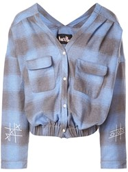 Haculla Plaid Blouse Blue