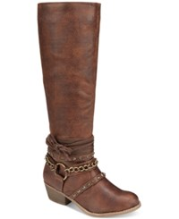 Naughty Monkey Not Rated Tulia Riding Boots Women's Shoes Tan