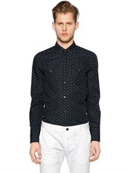 Dsquared Printed Cotton Poplin Western Shirt